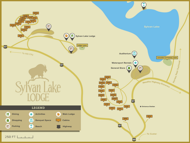 Map of Sylvan Lake