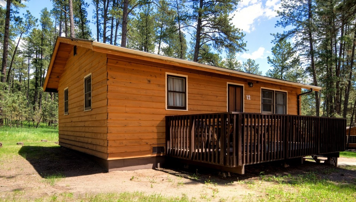 Housekeeping cabin 3 doubles h3dc cabins for Cabins near custer sd
