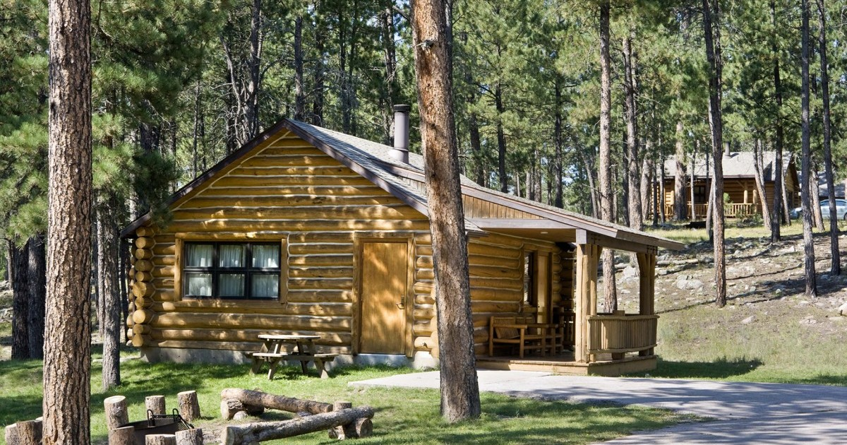 Cabins accommodations blue bell lodge lodges for Log cabins in yellowstone national park